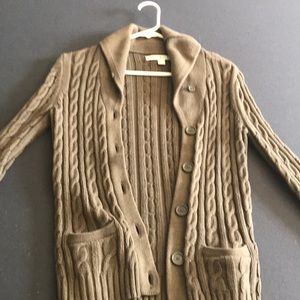 Tommy hilfiger Army green cable knit cardigan